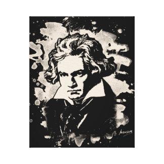 Ludwig Van Beethoven Tribute (white) Leinwanddruck