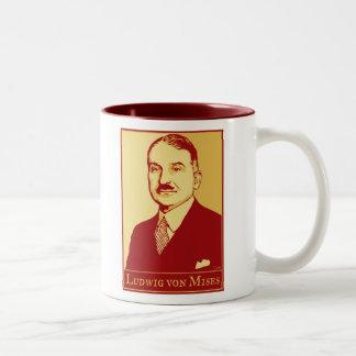 Ludwig von Mises Mug Zweifarbige Tasse