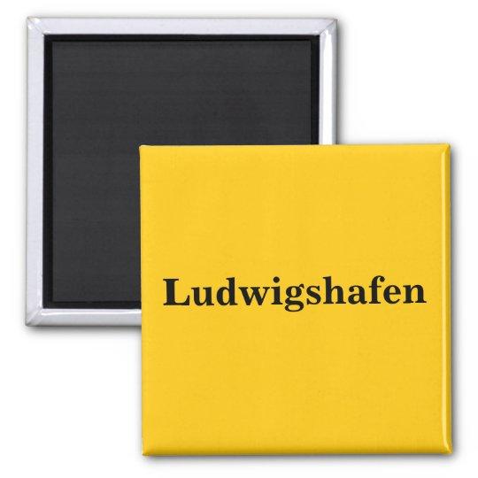 Ludwigshafen  Magnet Schild Gold Gleb