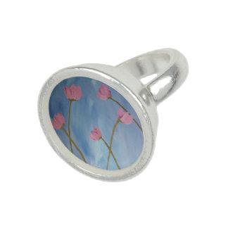 Lueur de Fleur Rose Foto Ringe