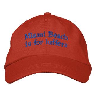 Luffers_Miami Strand Bestickte Baseballkappe