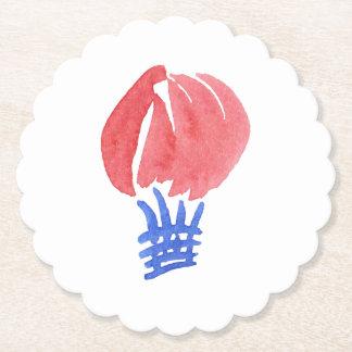 Luft-Ballon ausgebogt ringsum Untersetzer