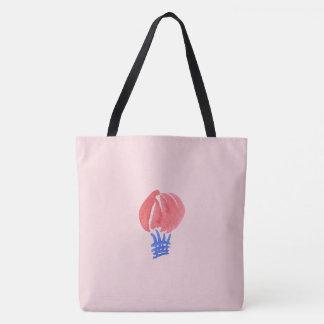 Luft-Ballon ganz vorbei - drucken Sie große Tasche