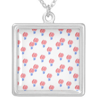 Luft-Ballon-große quadratische Halskette