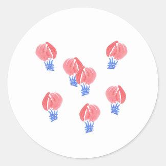 Luft-Ballon-kleiner glatter runder Aufkleber