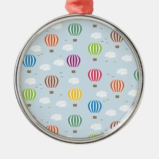 Luft-Ballon-Muster Silbernes Ornament