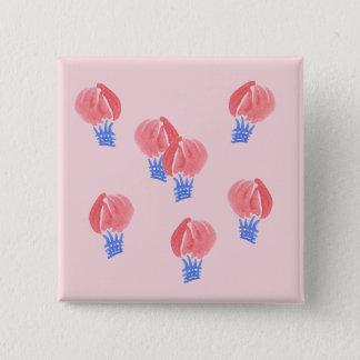 Luft-Ballon-quadratischer Knopf Quadratischer Button 5,1 Cm