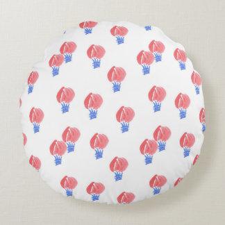 Luft-Ballone bürsteten Polyester-rundes Rundes Kissen