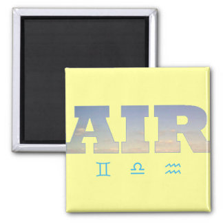 Luft-Element mit Tierkreis-Zeichen Quadratischer Magnet