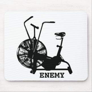 Luft-Fahrrad-Feind - schwarze Silhouette Mauspads