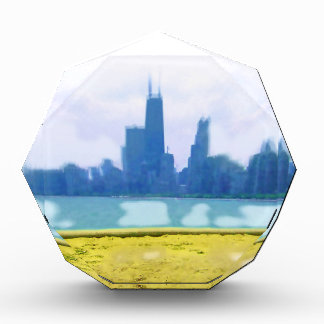 Luft gebürstete Chicago-Skyline Auszeichnung