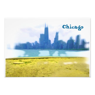 Luft gebürstete Chicago-Wolkenkratzer Fotodruck