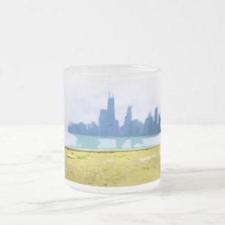 Luft gebürstete Chicago-Wolkenkratzer Mattglastasse