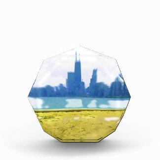 Luft gebürstetes Chicago-Stadtbild Acryl Auszeichnung