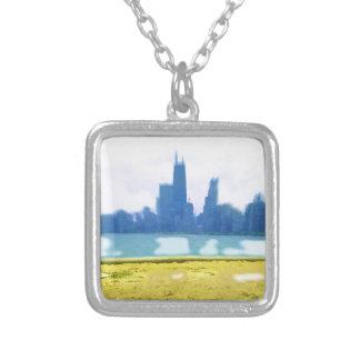 Luft gebürstetes Chicago Versilberte Kette