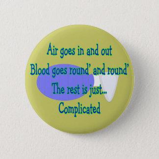 Luft geht und heraus… ist die Erholung schwierig Runder Button 5,7 Cm