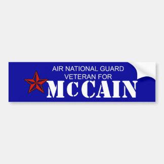 Luft-nationaler Schutz-Tierarzt für McCain Autoaufkleber