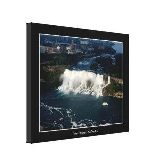 Luftaufnahme Amerikaner-Niagara Falls Leinwanddruck