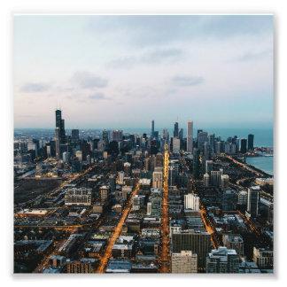 Luftaufnahme Chicagos Fotodruck