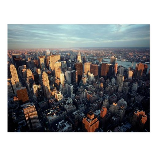 Luftaufnahme-Chrysler-Gebäude-Helm New York City Postkarte