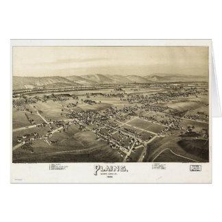 Luftaufnahme der Ebenen, Pennsylvania (1892) Karte