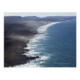 Luftaufnahme der Küstenlinie nahe KapInfanta, Postkarte