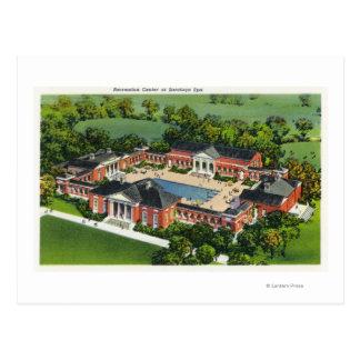 Luftaufnahme der Saratoga Wellness-Center-Erholung Postkarte
