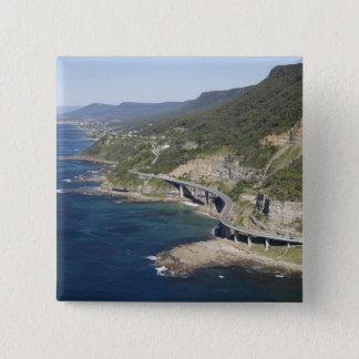 Luftaufnahme der Seeklippen-Brücke nahe Quadratischer Button 5,1 Cm
