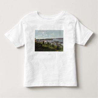 Luftaufnahme der Stadt und der Gurren-Bucht Kleinkinder T-shirt