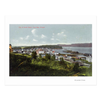 Luftaufnahme der Stadt und der Gurren-Bucht Postkarte