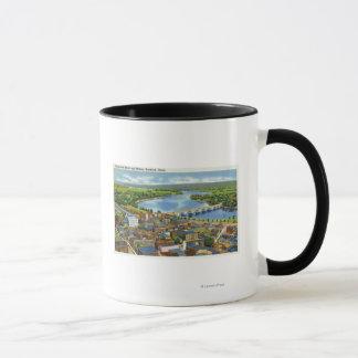 Luftaufnahme der Stadt und des Connecticuts Tasse