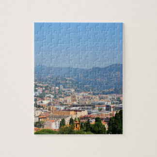 Luftaufnahme der Stadt von Nizza in Frankreich Puzzle