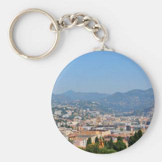 Luftaufnahme der Stadt von Nizza in Frankreich Schlüsselanhänger