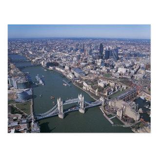 Luftaufnahme der Themses Postkarte