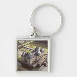 Luftaufnahme des Chateaus, konzipiert für Nicholas Schlüsselanhänger
