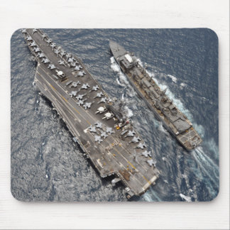 Luftaufnahme des Flugzeugträgers USS Ronald Reag Mousepad