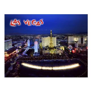 Luftaufnahme des Las Vegas-Streifens nachts Postkarte