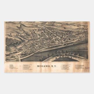 Luftaufnahme des Mohikaners, New York (1893) Rechteckiger Aufkleber