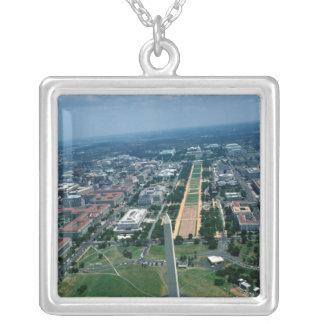 Luftaufnahme des nationalen Malls Versilberte Kette