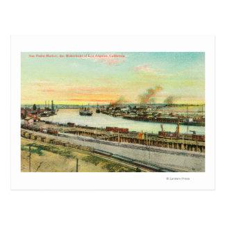 Luftaufnahme des San- Pedrohafens Postkarte
