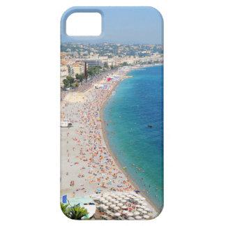 Luftaufnahme des Strandes in Nizza, Frankreich Etui Fürs iPhone 5