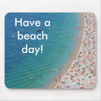 Luftaufnahme des Strandes in Nizza, Frankreich Mousepad