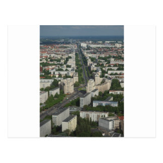 Luftaufnahme Karl Marx Allee Berlin Deutschland Postkarte