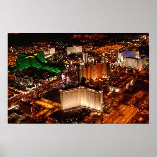 Luftaufnahme Las Vegass von einer schalldichten Ze Poster