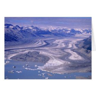 Luftaufnahme Lowell-Gletscher, Kluane Karte