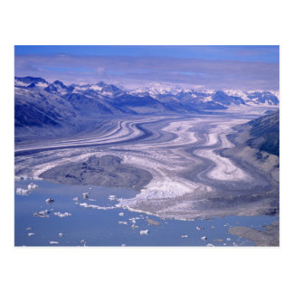 Luftaufnahme Lowell-Gletscher, Kluane Postkarte