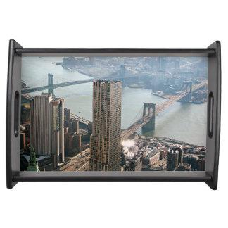 Luftaufnahme New York Tablett