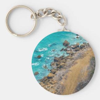Luftaufnahme-Ozean-Küstenlinie Puerto Lopez E Schlüsselanhänger