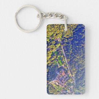 Luftaufnahme romantischen Heidelberg-Schlosses Schlüsselanhänger