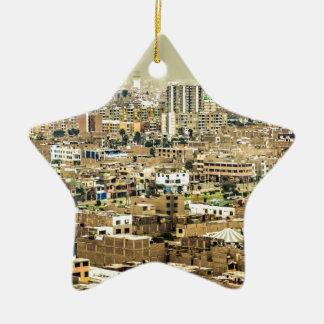 Luftaufnahme Stadtrände der aus Lima, Peru Keramik Stern-Ornament